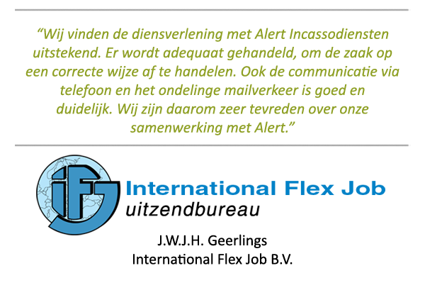 Referenties-Alert-Incassodiensten-International Flex Job Uitzendbureau