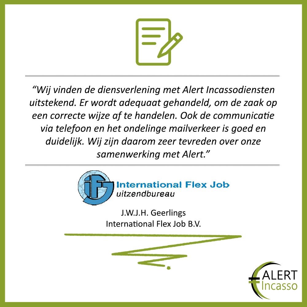 Referenties-Alert-Incassodiensten-International Flex Job Uitzendbureau